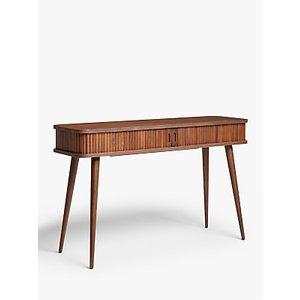 John Lewis & Partners Grayson Storage Console Table, Walnut