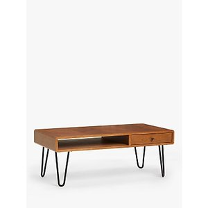 John Lewis & Partners Hairpin Coffee Table, Dark Oak