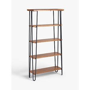 John Lewis & Partners Hairpin Tall Bookcase, Dark Oak