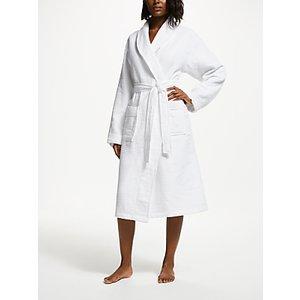 John Lewis & Partners Honeycomb Waffle Unisex Bath Robe, White