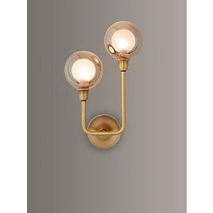 John Lewis & Partners Huxley Led 2 Arm Wall Light, Brass