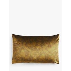 John Lewis & Partners Italian Velvet Rectangular Cushion, Tiger's Eye