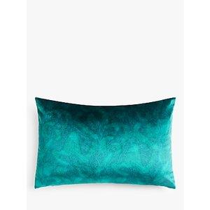 John Lewis & Partners Italian Velvet Rectangular Cushion, Spruce