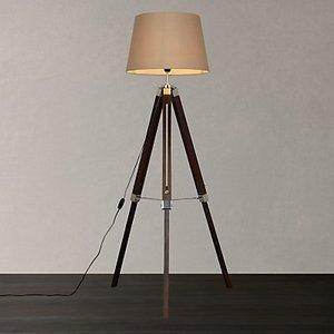 John Lewis & Partners Jacques Tripod Floor Lamp, Brown