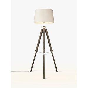 John Lewis & Partners Jacques Tripod Floor Lamp, Grey