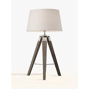 John Lewis & Partners Jacques Tripod Table Lamp, Grey