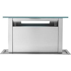 John Lewis & Partners Jlchdd901 Downdraft Cooker Hood, Stainless Steel/black Glass