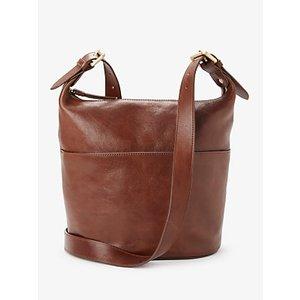 John Lewis & Partners Kepley Leather Cross Body Bag Womens Accessories, Tan