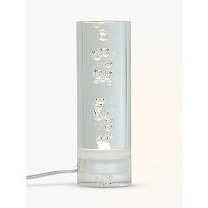 John Lewis & Partners Lawrence Round Bubble Led Table Lamp, Clear