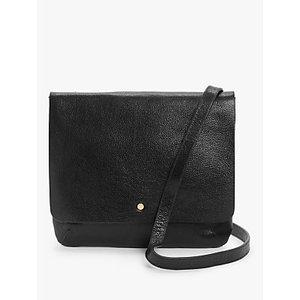 John Lewis & Partners Leather Cross Body Bag Womens Accessories, Black