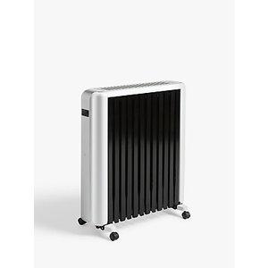 John Lewis & Partners Led Oil Filled Radiator, White/black