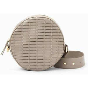John Lewis & Partners Luna Leather Circle Cross Body Bag, Grey Womens Accessories