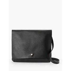 John Lewis & Partners Mae Leather Medium Cross Body Bag Womens Accessories, Black