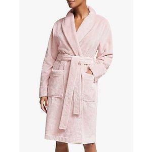 John Lewis & Partners Minnie Waffle Robe, Pink
