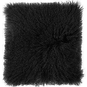 John Lewis & Partners Mongolian Sheepskin Cushion, Graphite