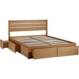 John Lewis & Partners Montreal Storage Bed, King Size, Oak
