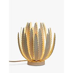 John Lewis & Partners Montserrat Leaf Mini Table Lamp, Cream