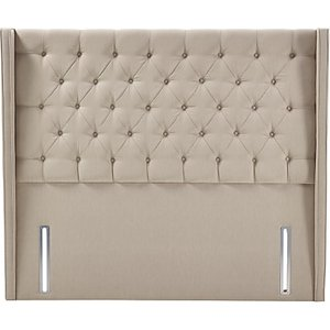 John Lewis & Partners Natural Collection Harlow Full Depth Headboard, Canvas Pebble, Super King Size