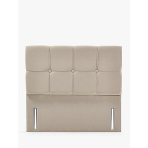 John Lewis & Partners Natural Collection Tatton Full Depth Headboard, Canvas Pebble, Super King Size