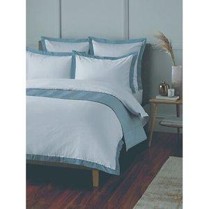 John Lewis & Partners Padova Bedding Ice Blue Oxford Pillowcase,square Oxford Pillowcase,super King Duvet Cover,king Duvet Cover,single Duvet Cover,do