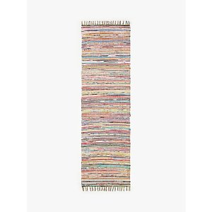 John Lewis & Partners Recycled Cotton Chindi Runner Rug, L240 X W70 Cm, Multi, Multi