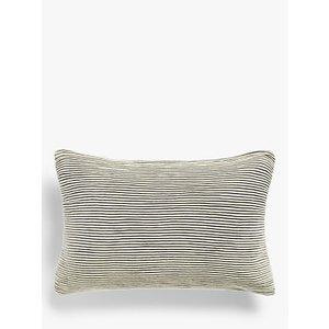 John Lewis & Partners Rib Knit Rectangular Cushion, Putty