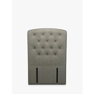 John Lewis & Partners Rouen Full Depth Upholstered Headboard, Single, Erin Grey