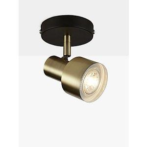 John Lewis & Partners Shelby Gu10 Led Single Ceiling Spotlight, Black/brass