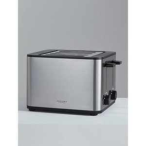 John Lewis & Partners Simplicity 4-slice Toaster, Stainless Steel