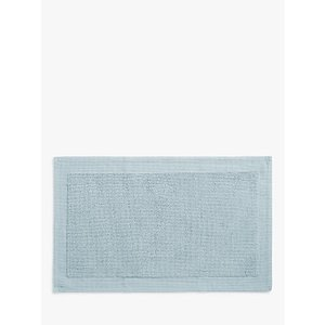 John Lewis & Partners Soft And Silky Bath Mat, Pacific Blue