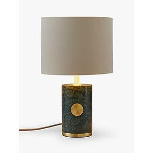 John Lewis & Partners Sylvie Marble Table Lamp, Green