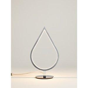 John Lewis & Partners Teardrop Led Table Lamp, Chrome