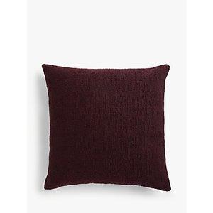John Lewis & Partners Wool Blend Boucle Cushion, Plum