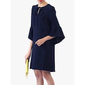 Jolie Moi Flare Sleeve Tunic Dress Navy, Navy