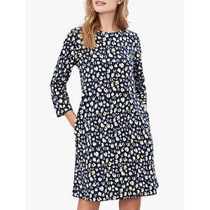 Joules Layla Cotton Print Dress, Navy