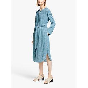 Kin Doshida Print Slim Utility Dress, Blue