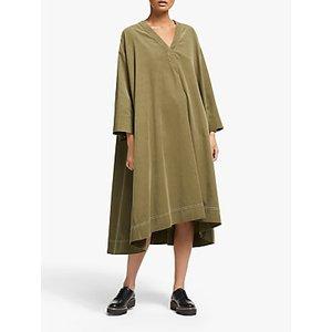 Kin Needlecord Utility Dress, Green