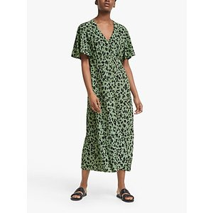 Lily And Lionel Lola Leopard Print Dress, Olive