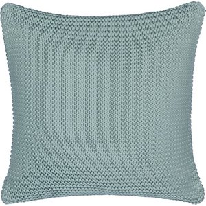 Little Home At John Lewis Addison Knitted Cushion, Blue/Grey