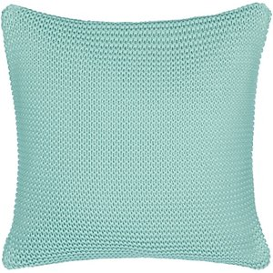 Little Home At John Lewis Addison Knitted Cushion, Duck Egg