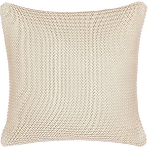 Little Home At John Lewis Addison Knitted Cushion, Ash Rose