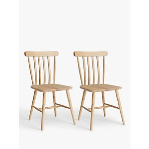 Loaf Chow Dining Chairs, Set Of 2, Natural Oak