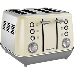 Morphy Richards Evoke 4-slice Toaster, Cream