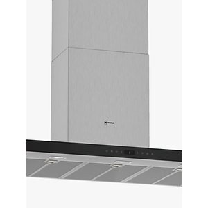 Neff D95bmp5n0b Wall-mounted Box Chimney Cooker Hood, 90cm, Grey/stainless Steel