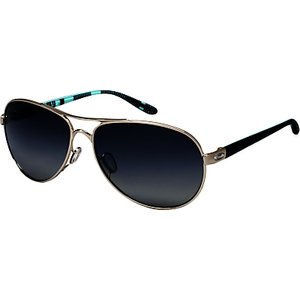 Oakley Oo4079 Women's Feedback Polarised Aviator Sunglasses Womens Accessories, Polished Chrome