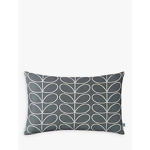 Orla Kiely Linear Stem Rectangular Cushion, Grey