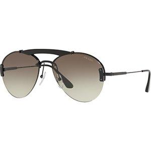Prada Pr 62us Men's Aviator Sunglasses, Black/green Gradient Womens Accessories
