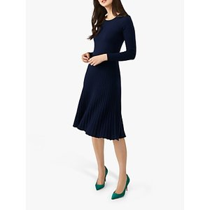 Pure Collection Knitted Dress, Navy