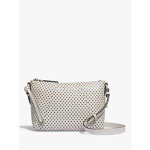 Radley Wood Street Medium Leather Zip Top Cross Body Bag Womens Accessories, Oyster/Polka Dot