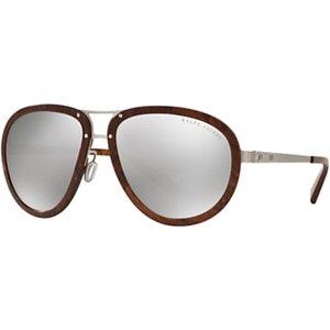 Ralph Lauren Rl7053 Aviator Sunglasses Womens Accessories, Silver/Mirror Grey
